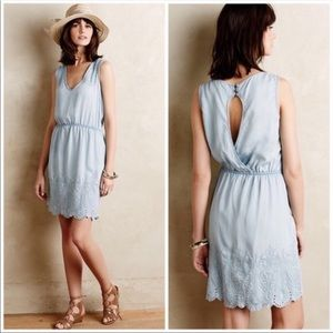 Chambray blue dress ANTHROPOLOGIE HOLDING HORSES S
